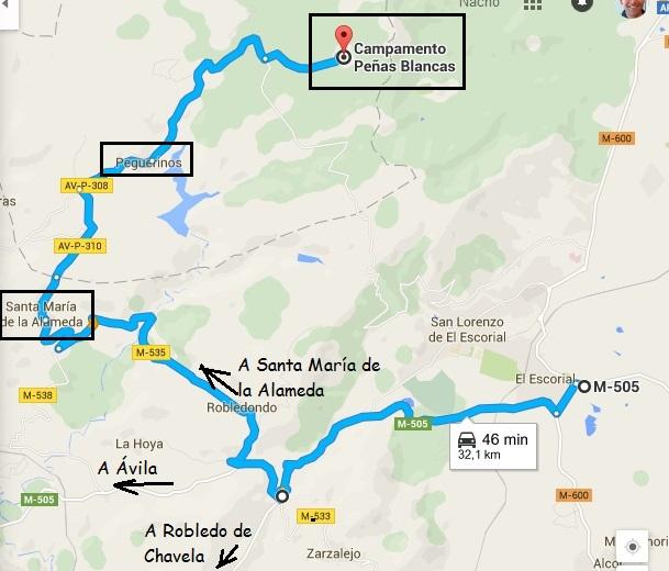 El Escorial- Peguerinos Piedras Blancas